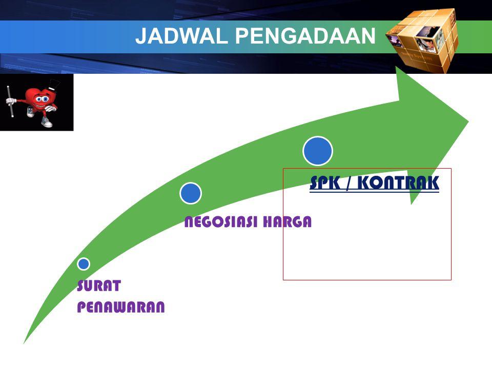 JADWAL PENGADAAN SURAT PENAWARAN NEGOSIASI HARGA SPK / KONTRAK