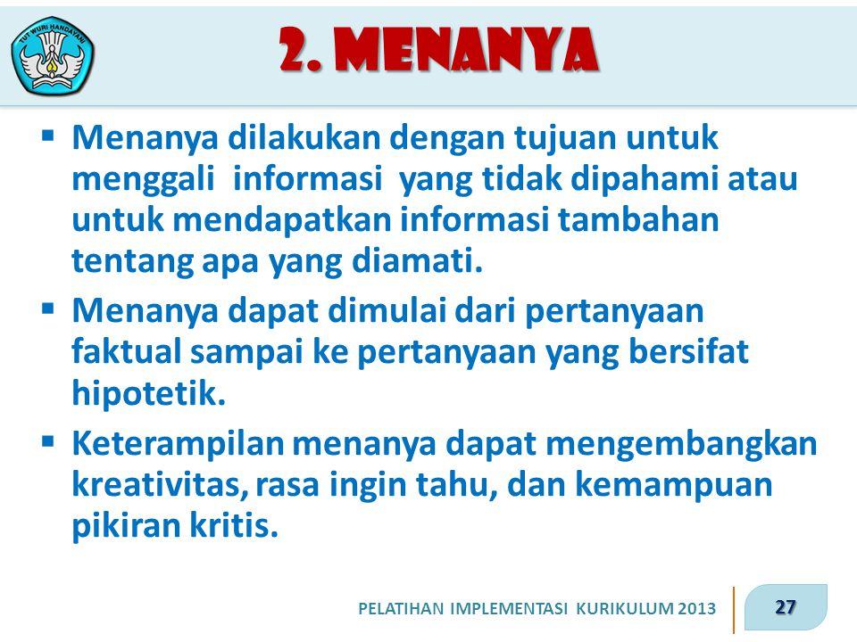 2. Menanya