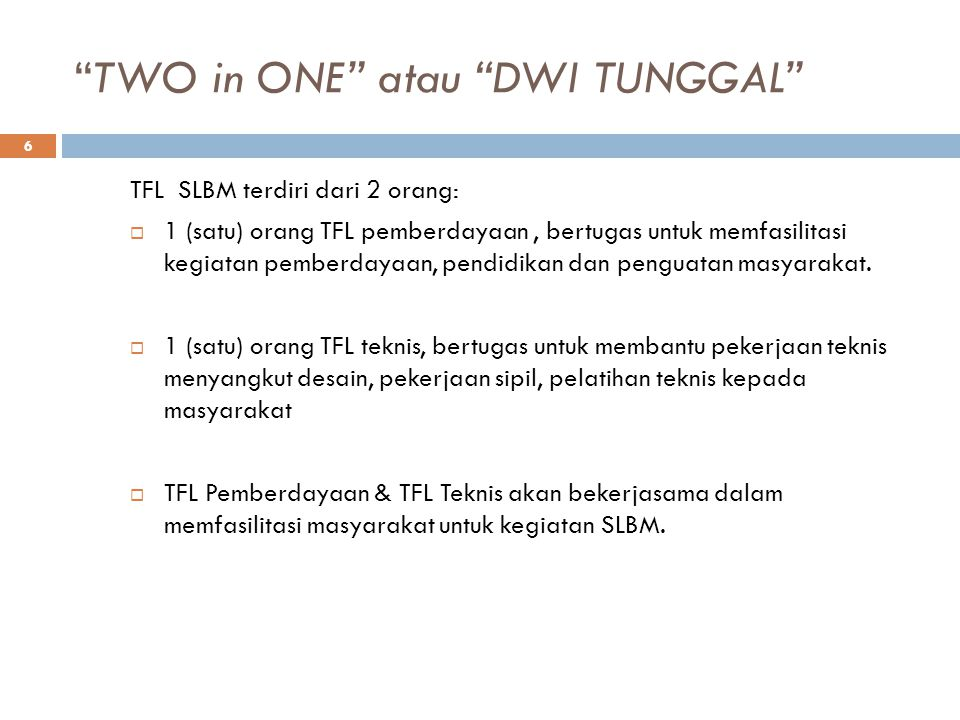 TWO in ONE atau DWI TUNGGAL