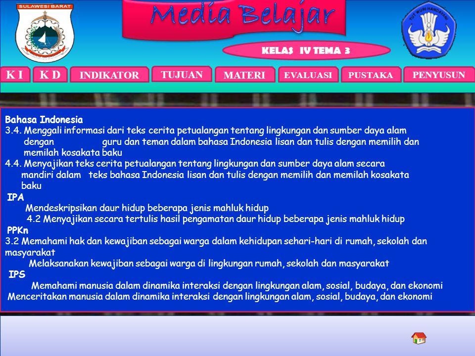 Bahasa Indonesia 3.4. Menggali informasi dari teks cerita petualangan tentang lingkungan dan sumber daya alam.