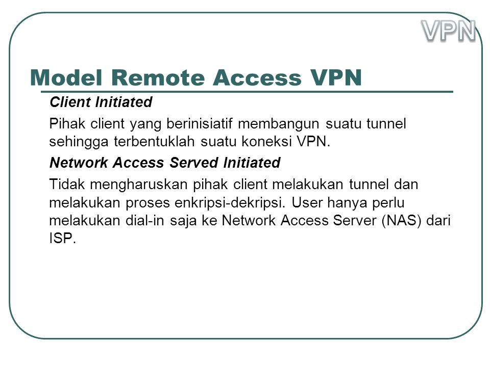 Model Remote Access VPN