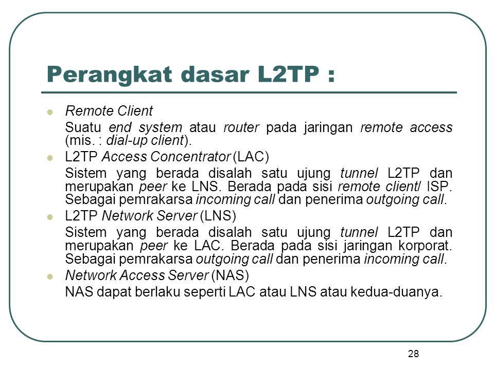 Perangkat dasar L2TP : Remote Client