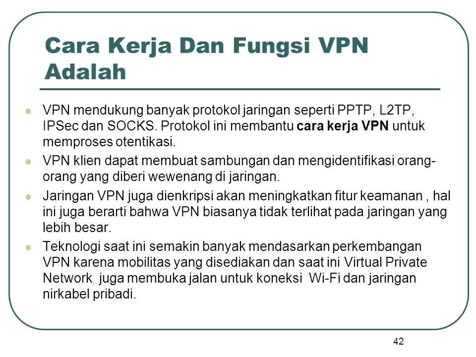 Cara Kerja Dan Fungsi VPN Adalah