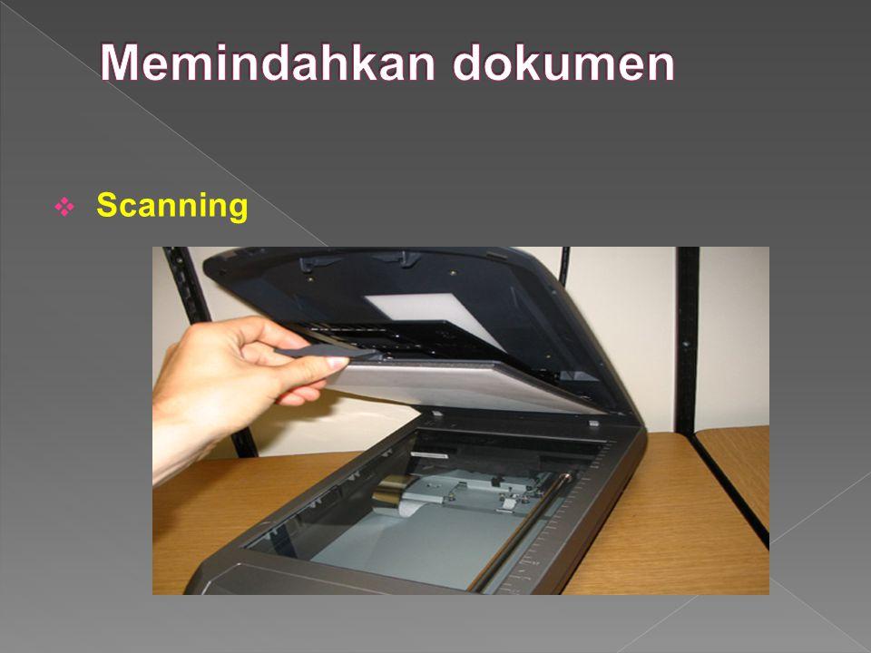 Memindahkan dokumen Scanning