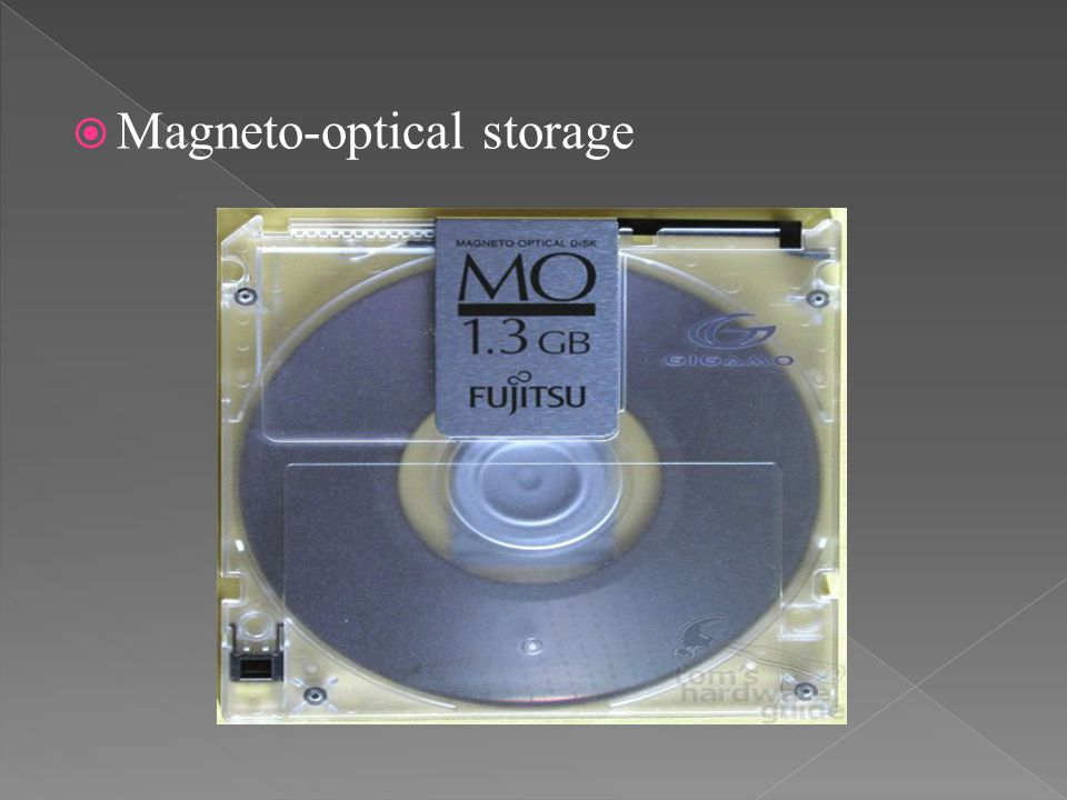 Magneto-optical storage