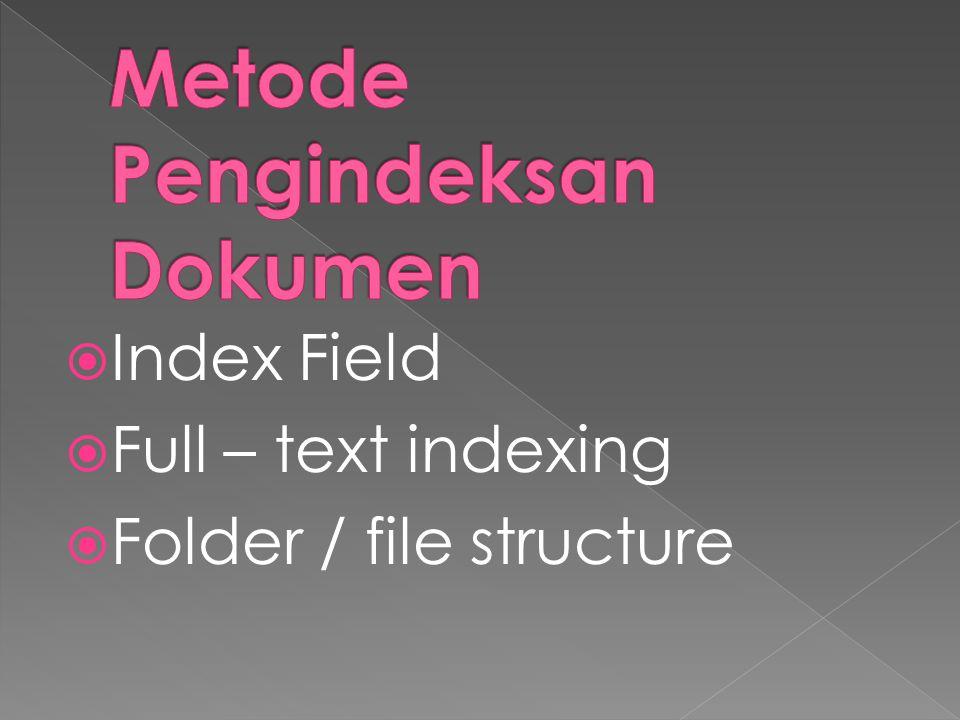 Metode Pengindeksan Dokumen
