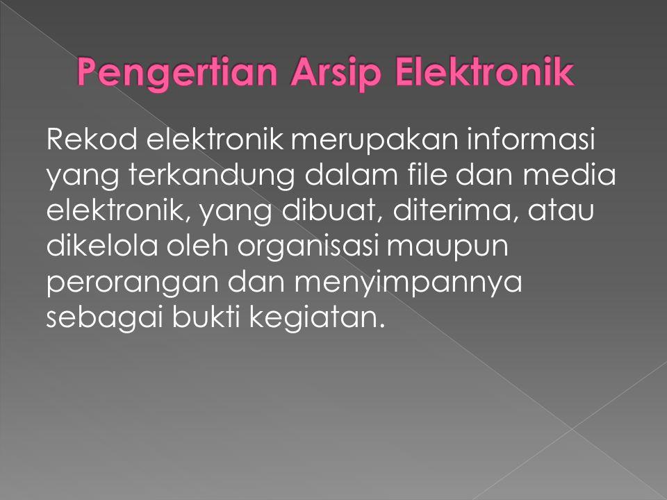 Pengertian Arsip Elektronik