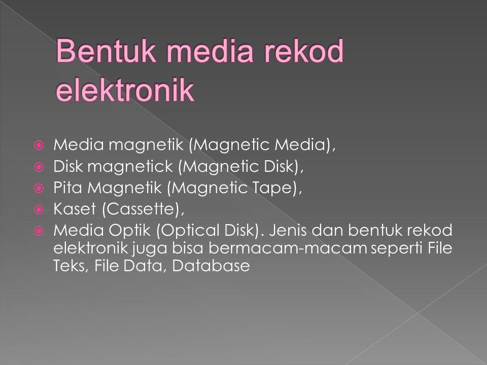 Bentuk media rekod elektronik