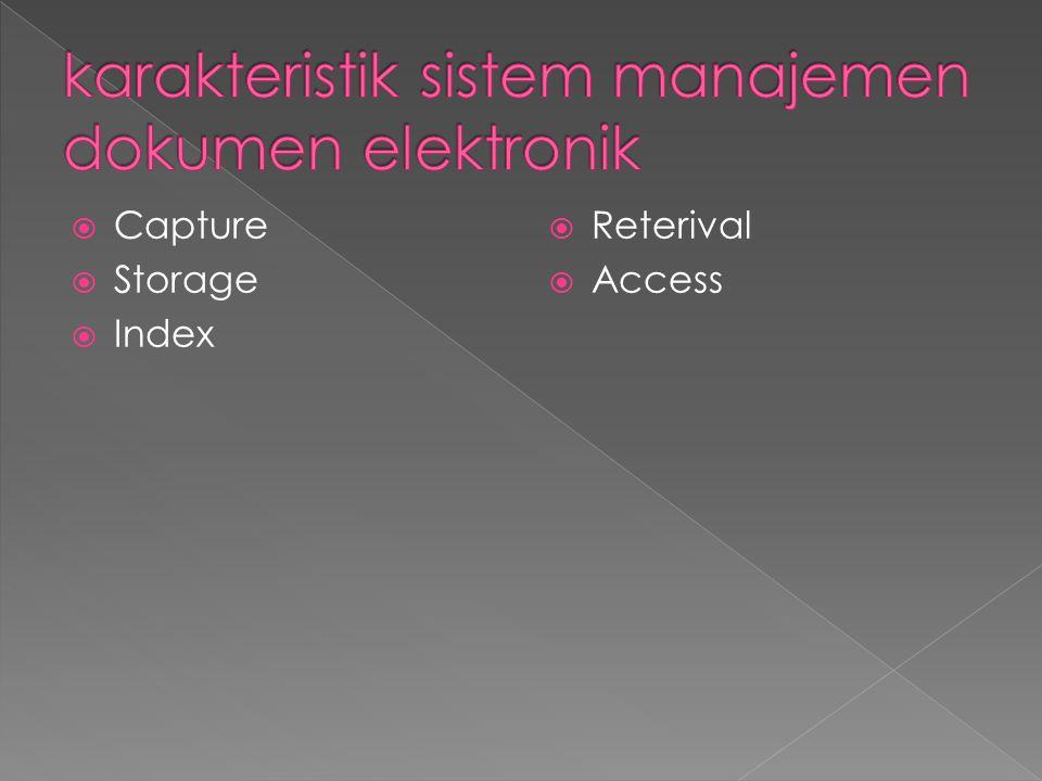 karakteristik sistem manajemen dokumen elektronik