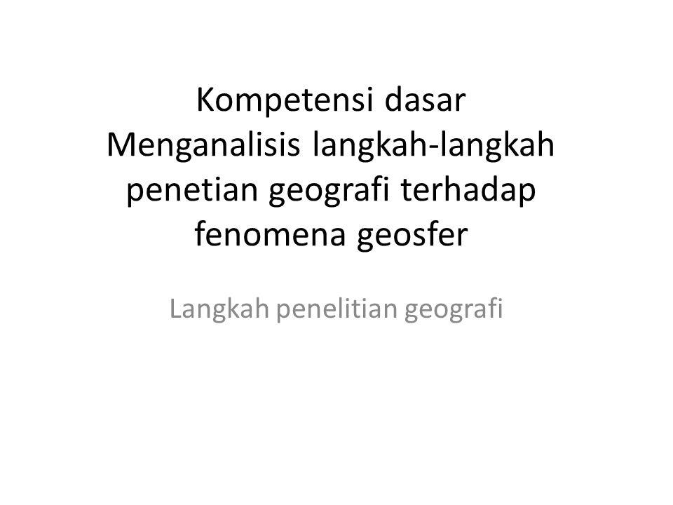 Langkah penelitian geografi