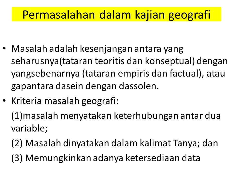 Permasalahan dalam kajian geografi