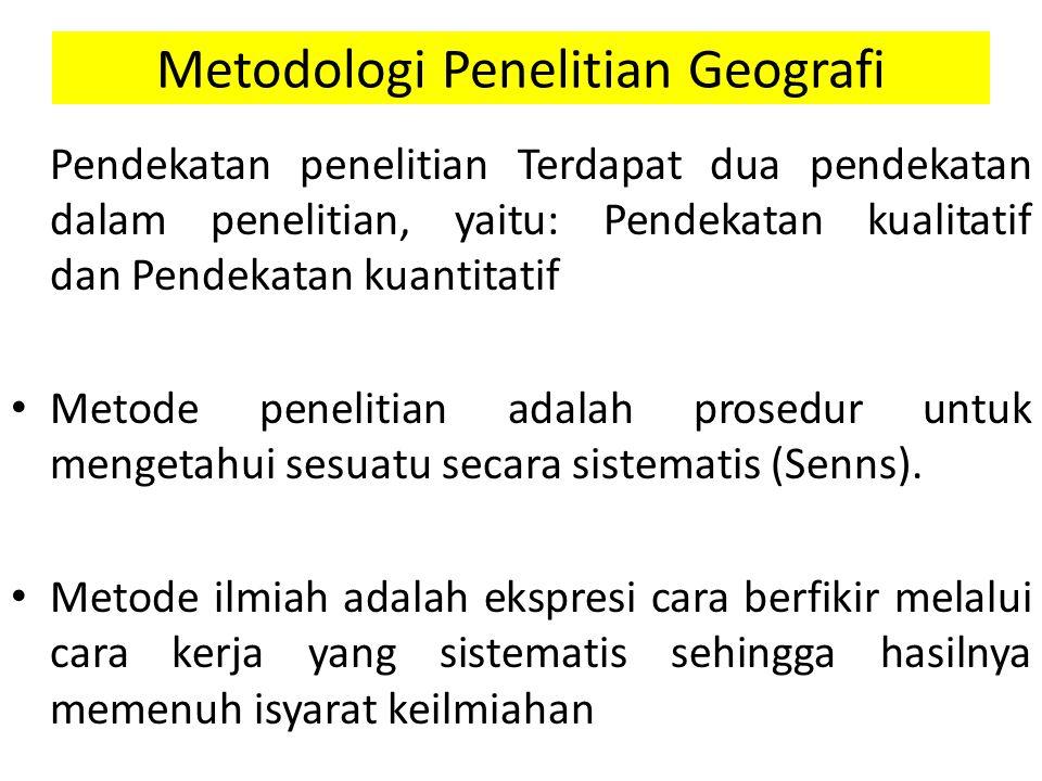 Metodologi Penelitian Geografi