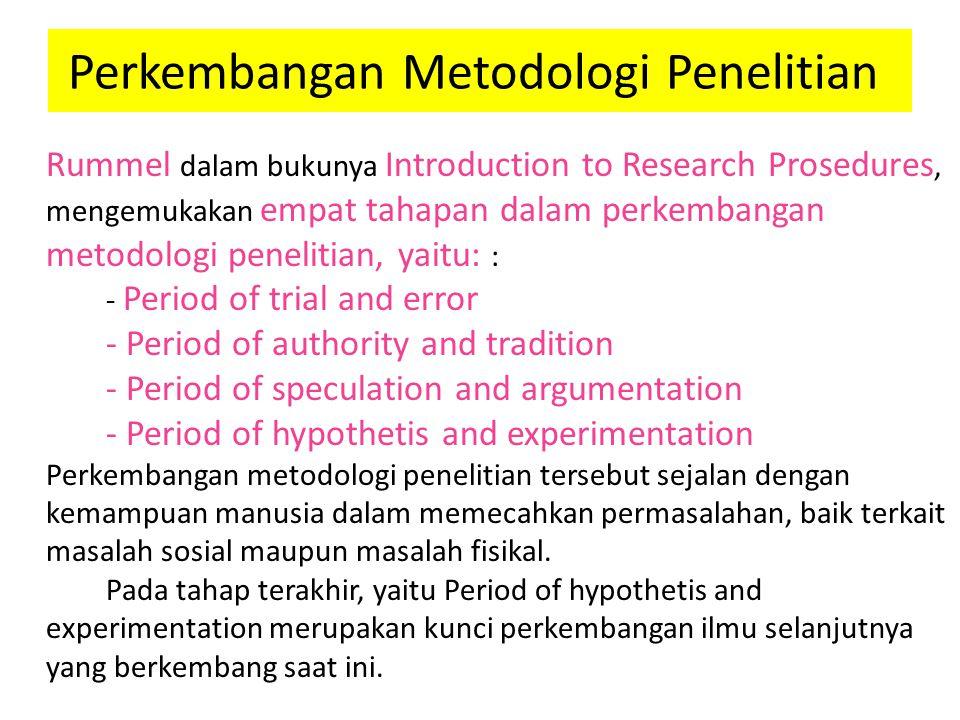 Perkembangan Metodologi Penelitian