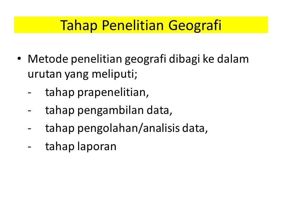 Tahap Penelitian Geografi
