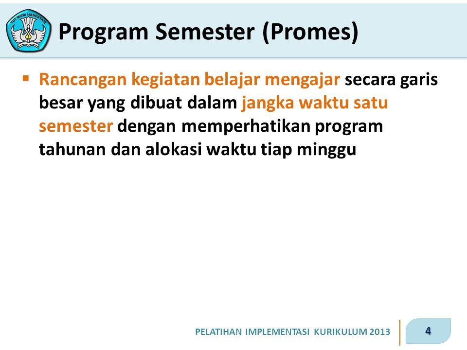 Program Semester (Promes)