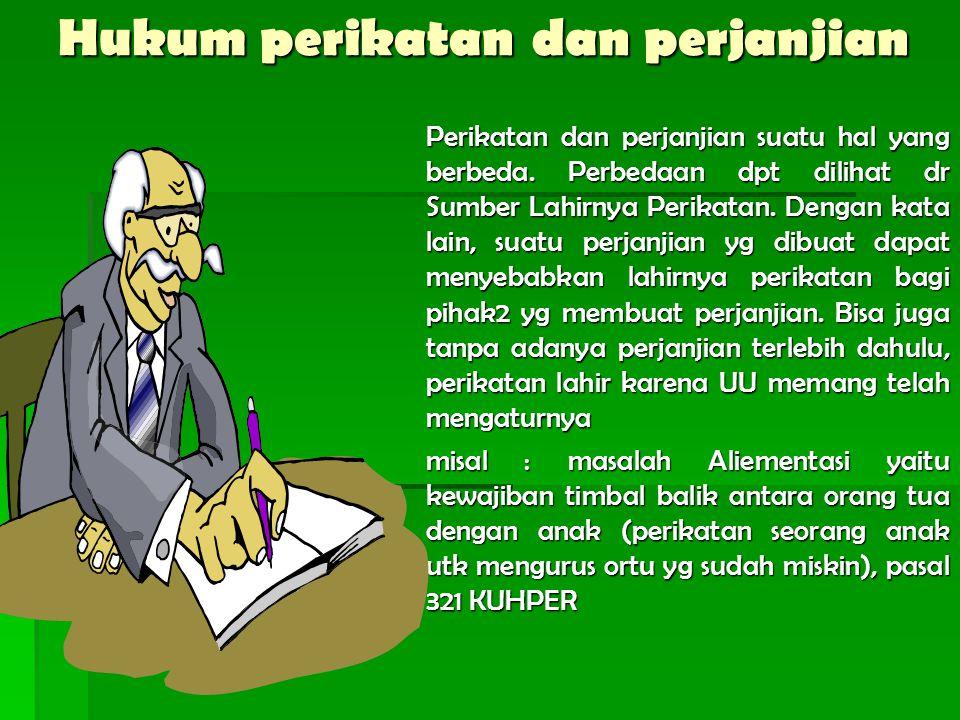 Hukum perikatan dan perjanjian