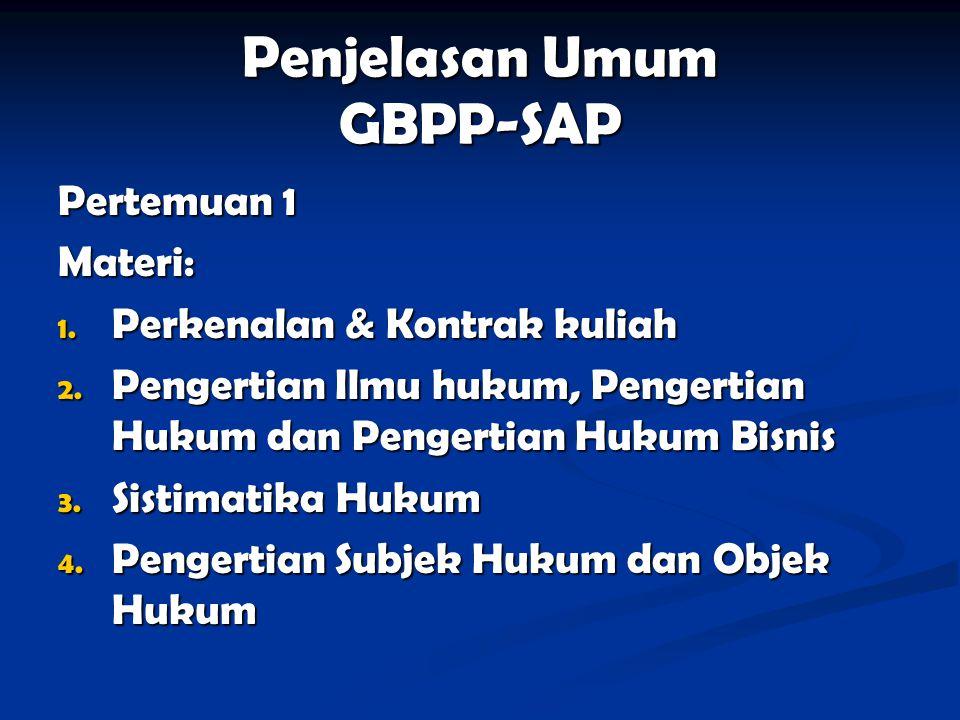 Penjelasan Umum GBPP-SAP