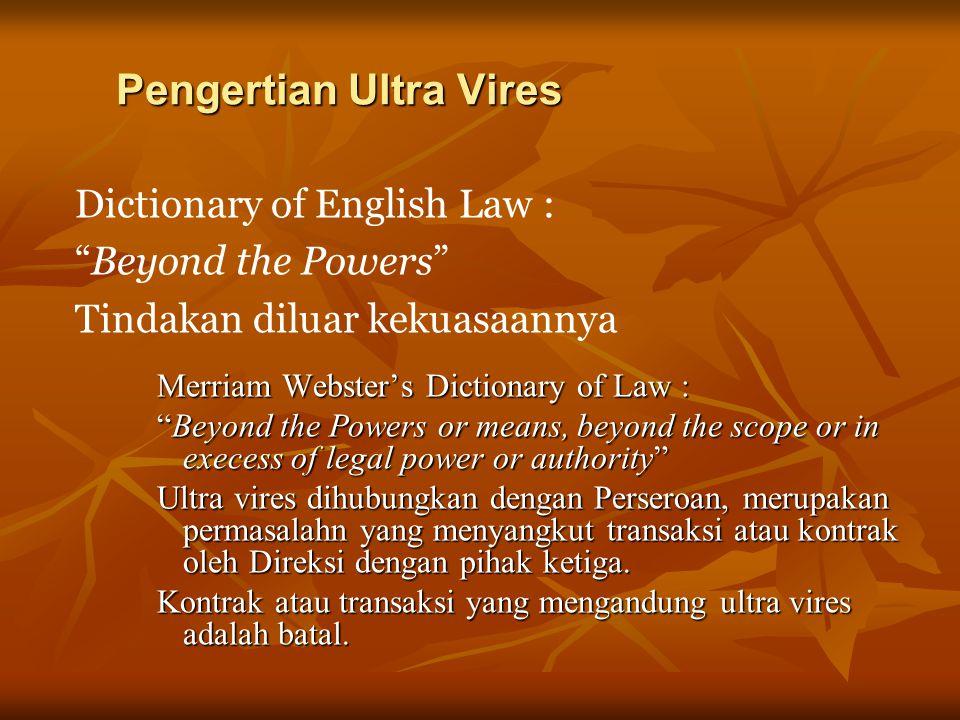 Pengertian Ultra Vires