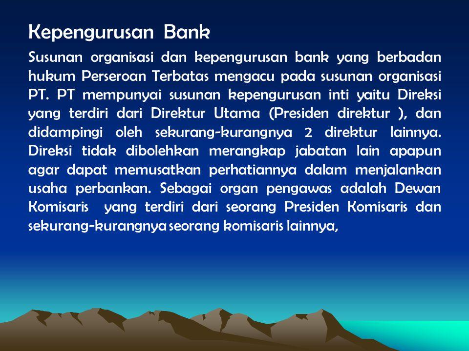 Kepengurusan Bank