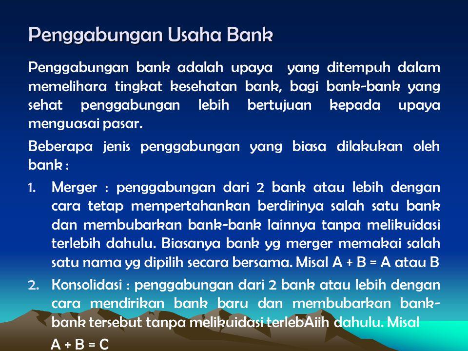 Penggabungan Usaha Bank