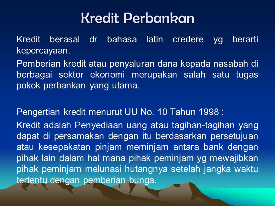 Kredit Perbankan