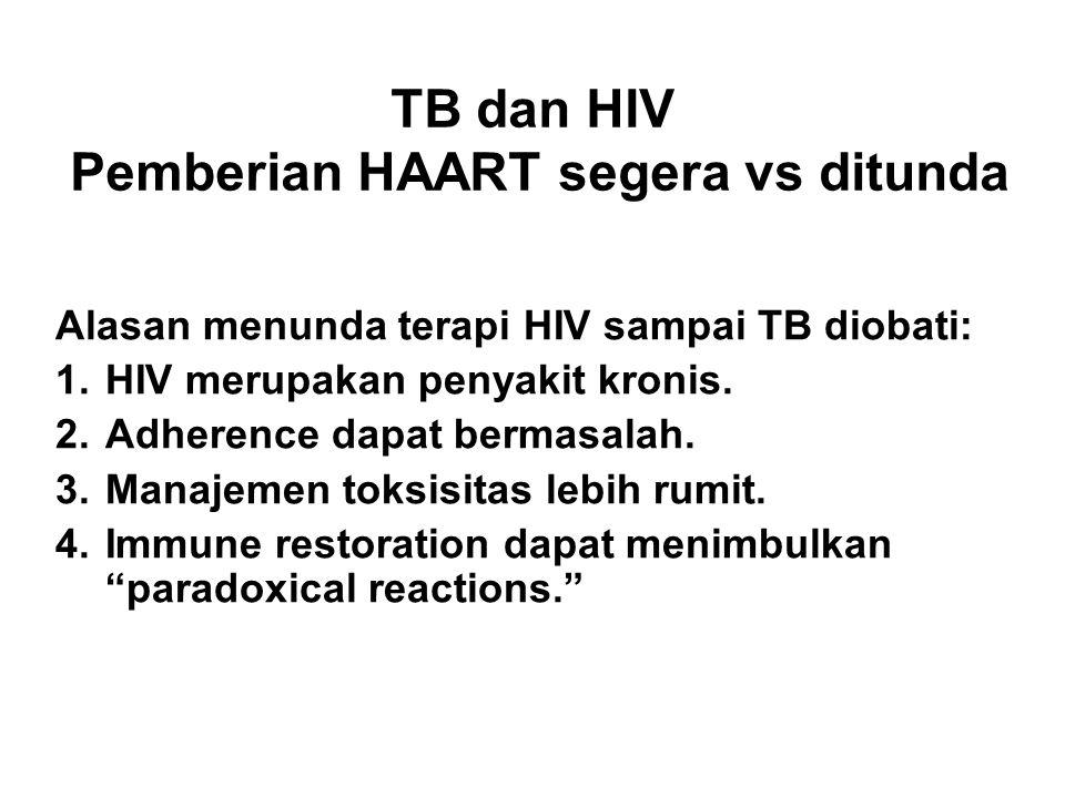 Pemberian HAART segera vs ditunda