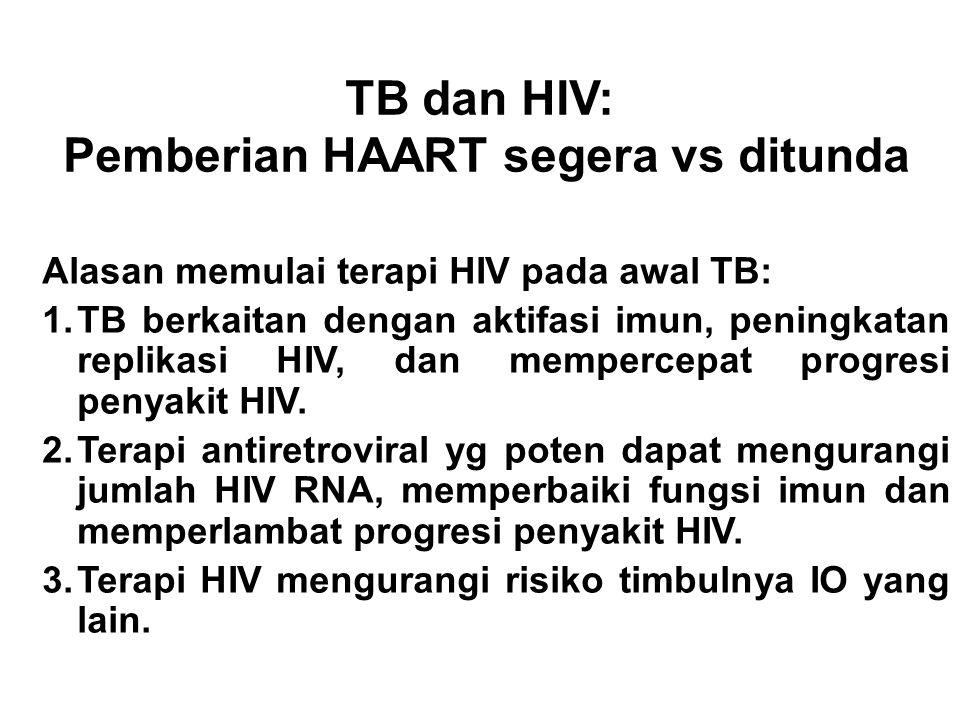 TB dan HIV: Pemberian HAART segera vs ditunda