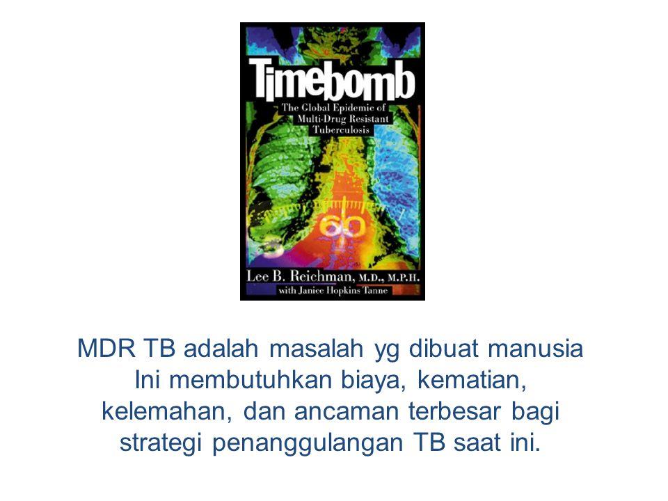 MDR TB adalah masalah yg dibuat manusia