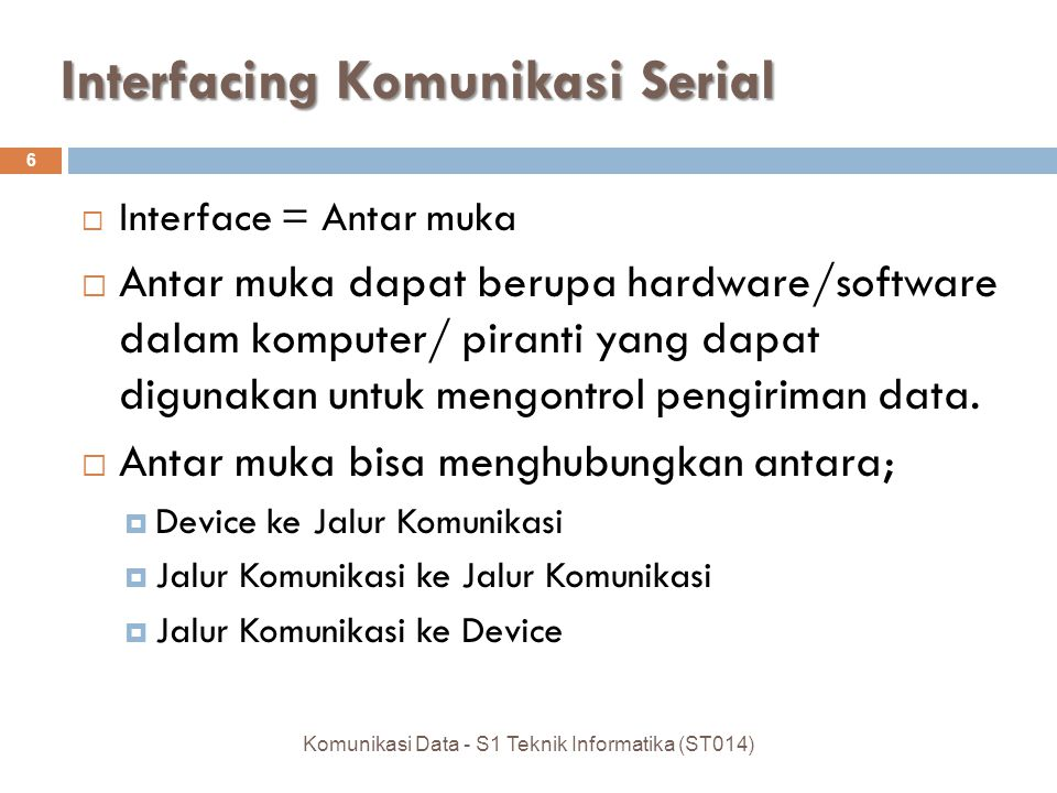 Interfacing Komunikasi Serial