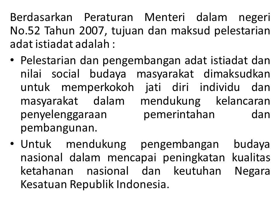 Berdasarkan Peraturan Menteri dalam negeri No