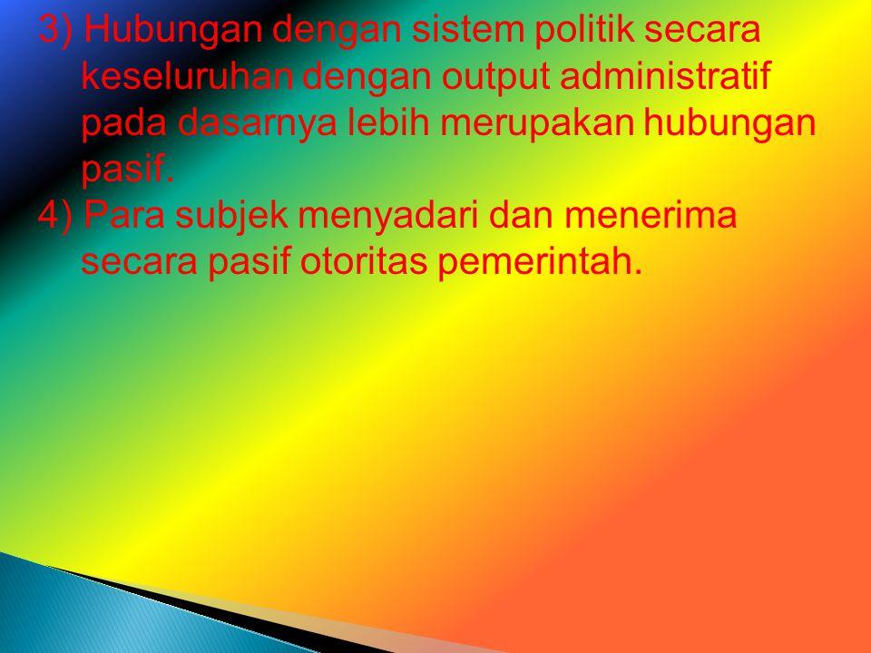 3) Hubungan dengan sistem politik secara