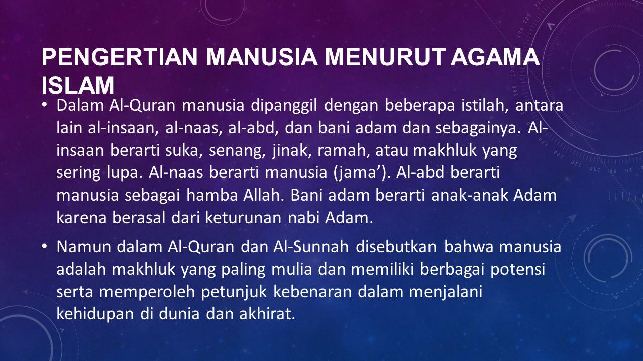 Pengertian manusia menurut agama islam