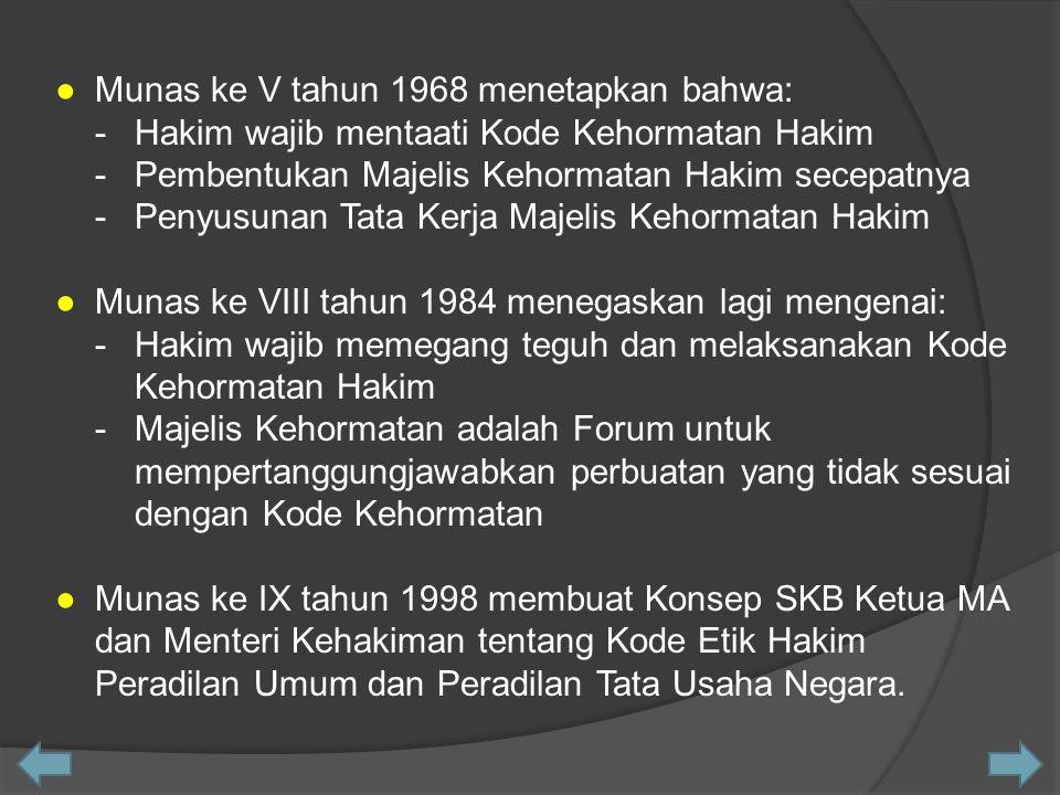 ● Munas ke V tahun 1968 menetapkan bahwa: