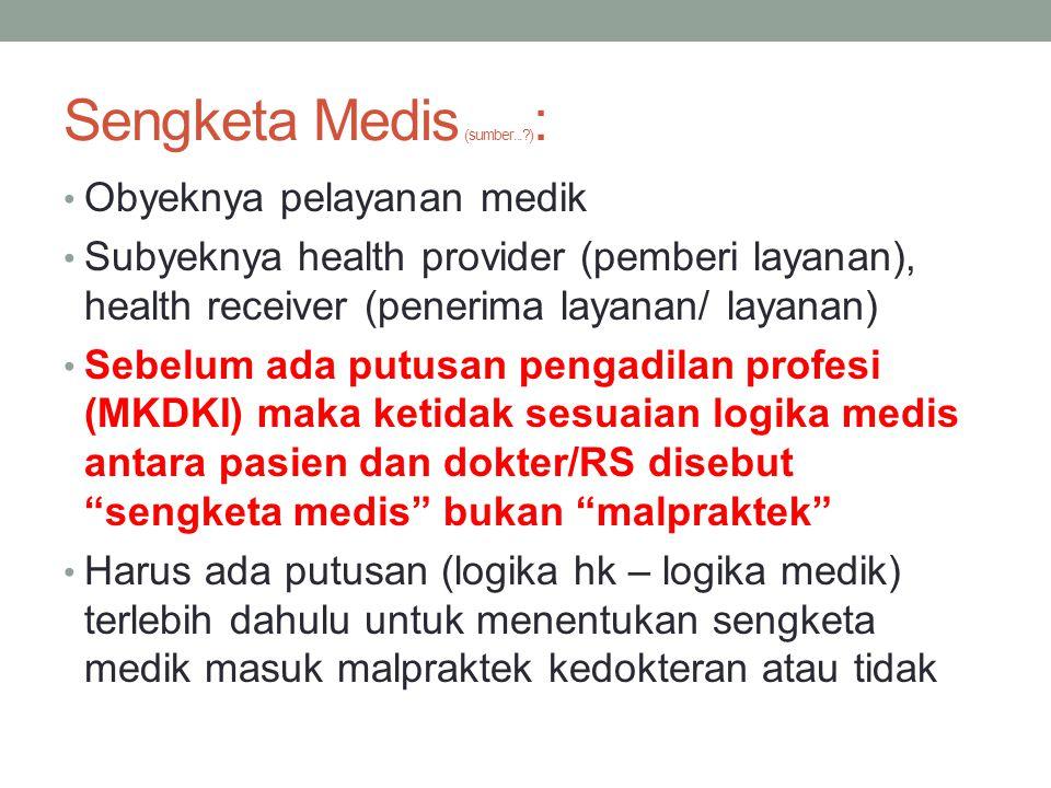 Sengketa Medis (sumber... ):