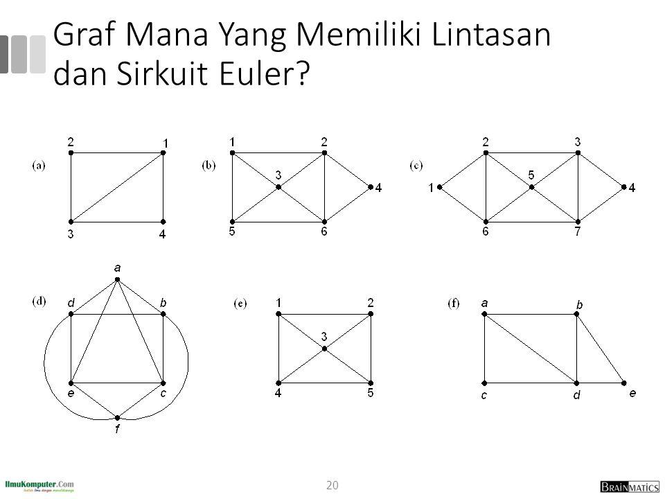 Graf Mana Yang Memiliki Lintasan dan Sirkuit Euler