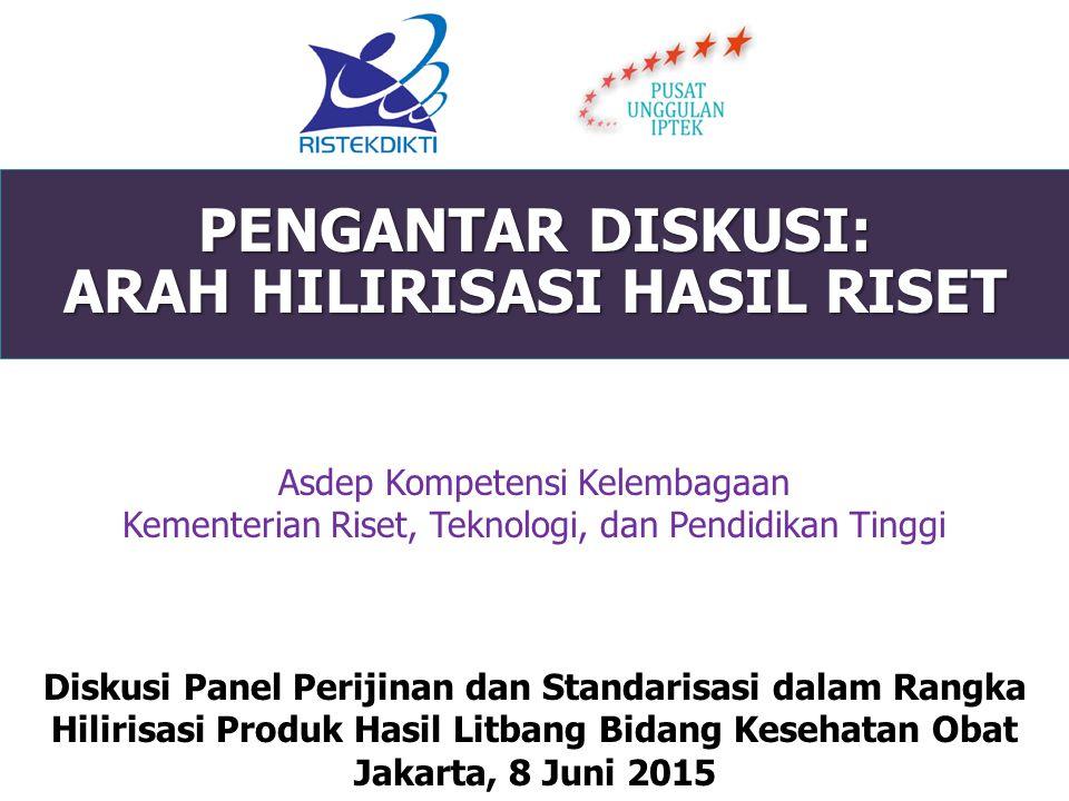 PENGANTAR DISKUSI: ARAH HILIRISASI HASIL RISET