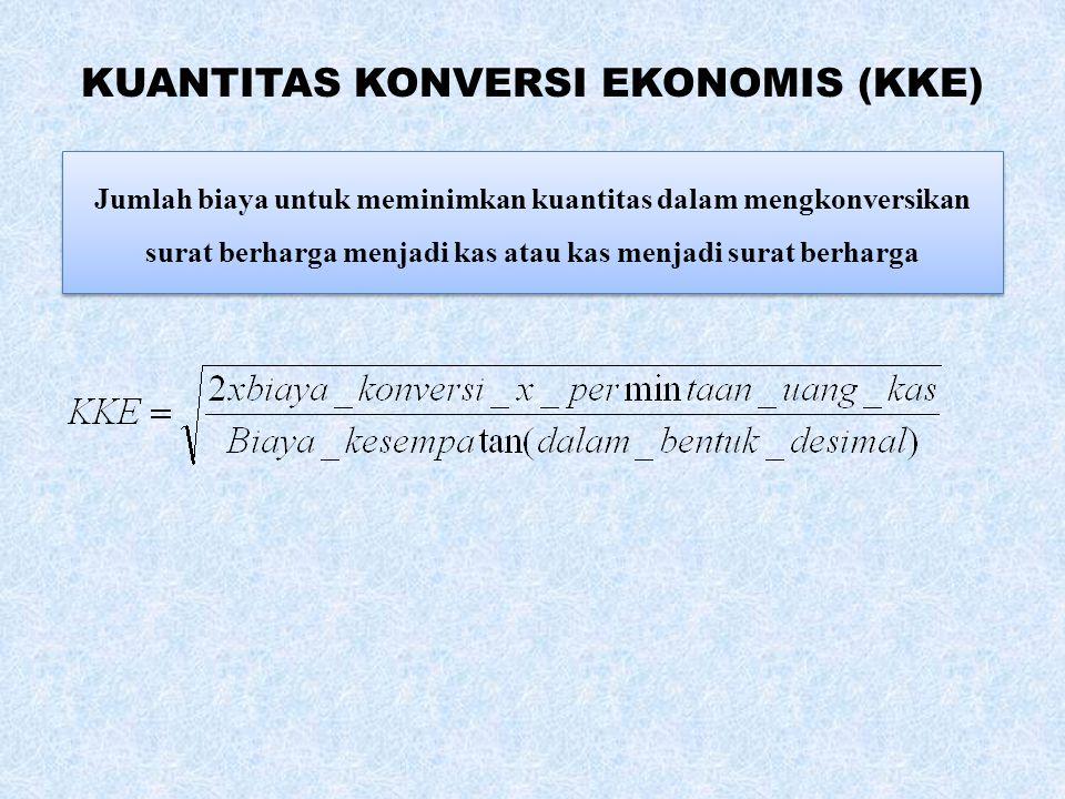 KUANTITAS KONVERSI EKONOMIS (KKE)