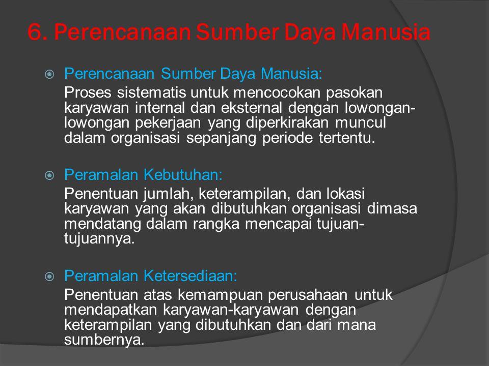 6. Perencanaan Sumber Daya Manusia