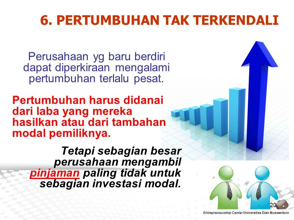 6. PERTUMBUHAN TAK TERKENDALI