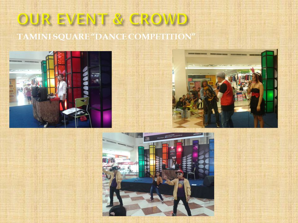 OUR EVENT & CROWD TAMINI SQUARE DANCE COMPETITION