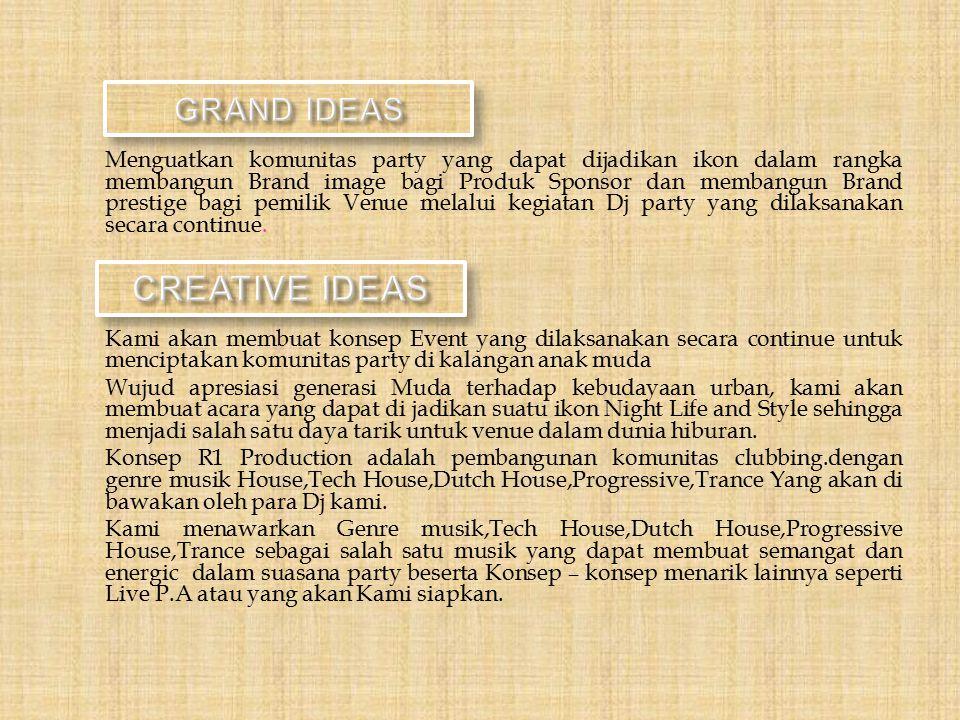 CREATIVE IDEAS GRAND IDEAS