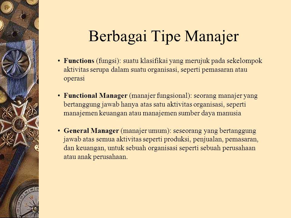 Berbagai Tipe Manajer