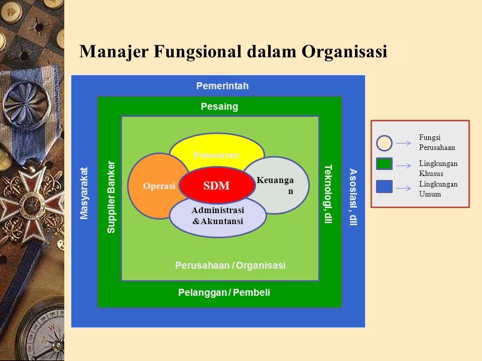 Manajer Fungsional dalam Organisasi
