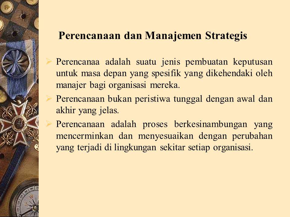 Perencanaan dan Manajemen Strategis