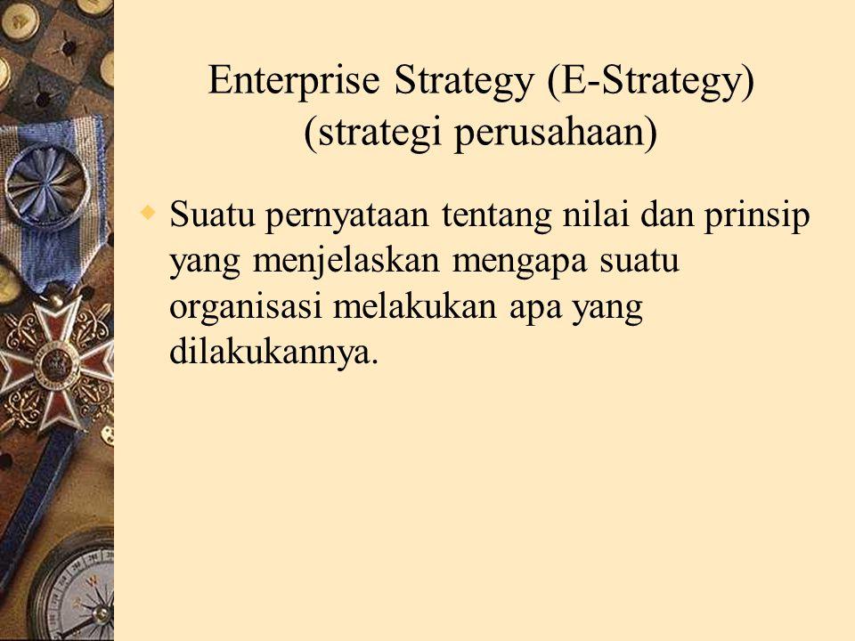 Enterprise Strategy (E-Strategy) (strategi perusahaan)