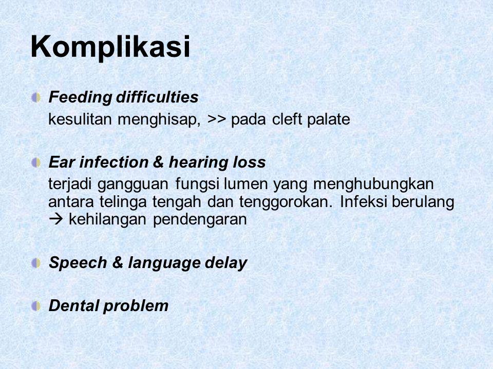 Komplikasi Feeding difficulties