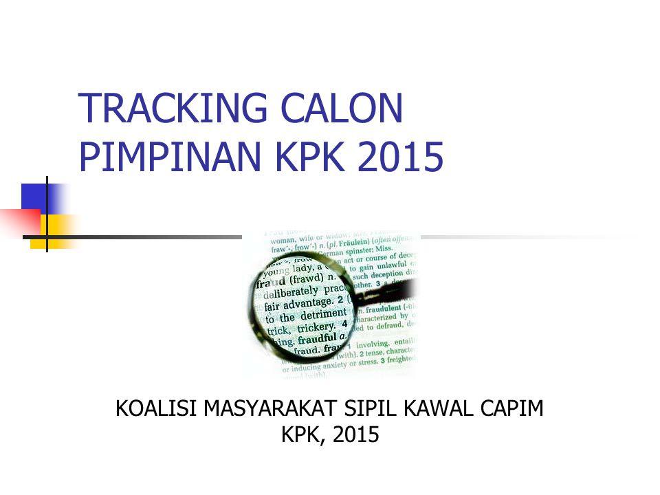 TRACKING CALON PIMPINAN KPK 2015