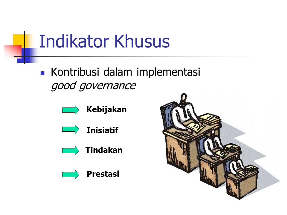 Indikator Khusus Kontribusi dalam implementasi good governance