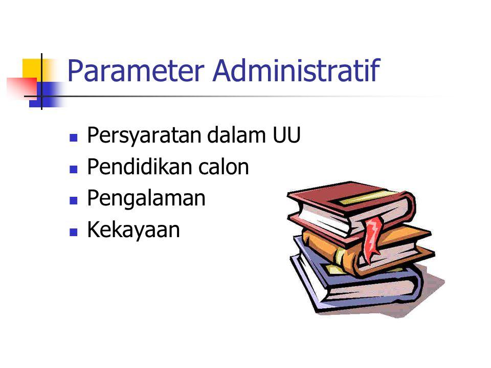 Parameter Administratif