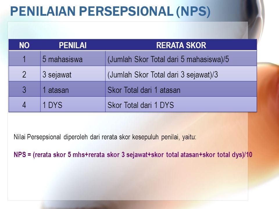 PENILAIAN PERSEPSIONAL (NPS)
